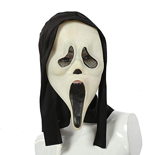 MROSW Haunted House of Horror Helle Halloween-Maske Furchtsame Grimassenmaske , 01