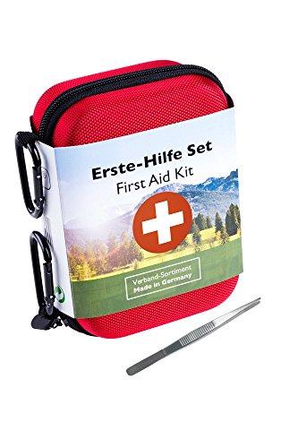 Erste Hilfe Set Premium für Outdoor, Sport & Reisen mit Blasenpflaster und Splitterpinzette