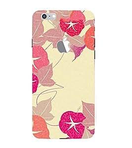 PrintVisa Designer Back Case Cover for Apple iPhone 7 (Logo View Window Case) (wonderful painted laef :: Colourful leaf design Wallpaper :: Beautiful Coloured leaf Design)
