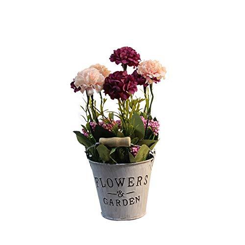 Eisen-satz (Sue-Supply Künstlicher Topfpflanze-Satz, Eisen-Blumentopf-künstliche Blumen-Verzierungen Für Haus)