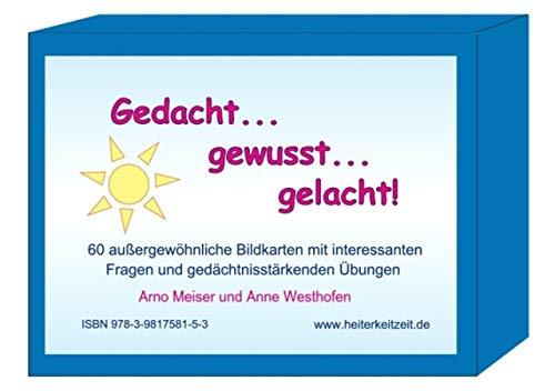 Bildkartenbox: Gedacht - gewusst - gelacht -- 60 außergewöhnliche Bildkarten mit gedächtnisstärkenden Übungen und Anregungen zum Gespräch - auch für Menschen mit Demenz -- DIN A6 Querformat