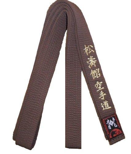Braungurt bestickt mit Shotokan Karate-Do (Bestickung gold) Karategürtel braun bestickter Karategurt