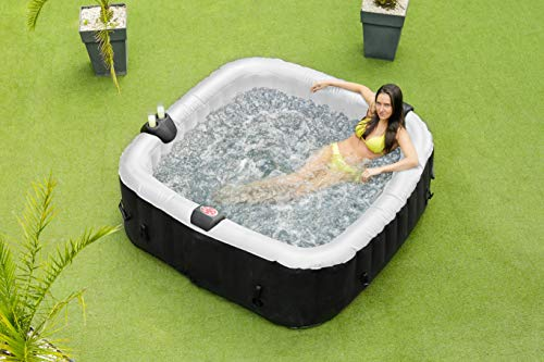 O'Spazia - SPA Hinchable de 6 plazas, Color Negro