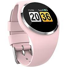 Rastreador de actividad física. Reloj inteligente con Bluetooth para hombres y mujeres, monitor de