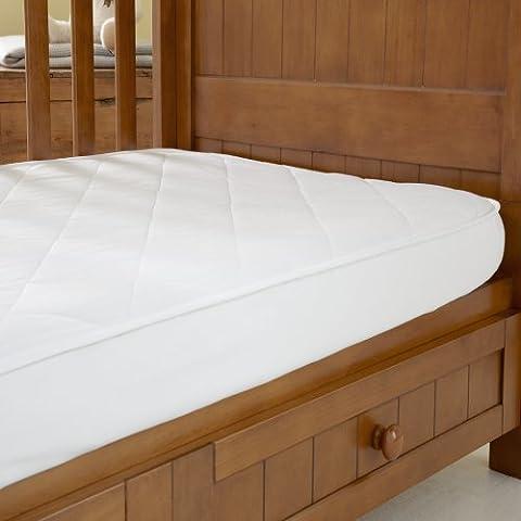 La sala de lana Lana Protector de colchón cuna de viaje tamaño
