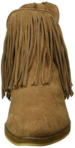 Vero Moda Vmlaure Leather Boot, Bottes courtes femme Beige - Beige (Camel)