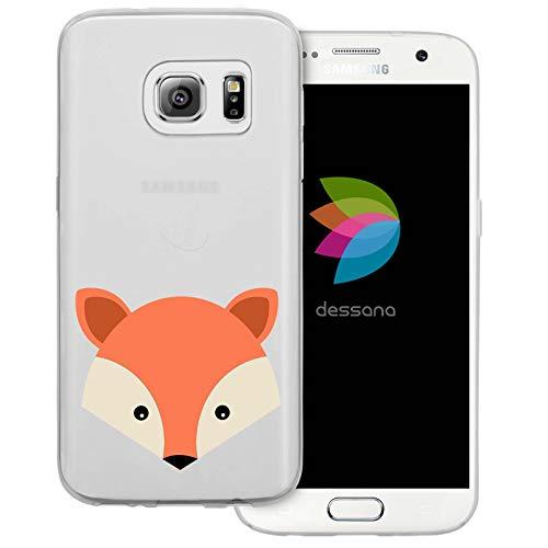 dessana Comic Füchse Transparente Schutzhülle Handy Case Cover Tasche für Samsung Galaxy S7 Fuchs Niedlich