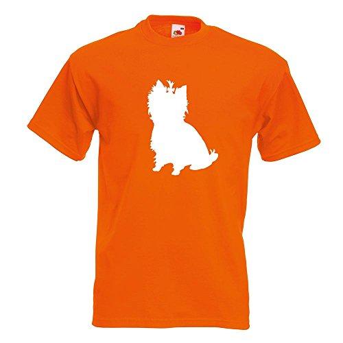 KIWISTAR - Yorkshire Terrier Hunderasse T-Shirt in 15 verschiedenen Farben - Herren Funshirt bedruckt Design Sprüche Spruch Motive Oberteil Baumwolle Print Größe S M L XL XXL Orange