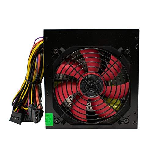 PSU 500W ATX Schaltnetzteil / 12cm Silent-Rote Flügel / für PC Computer / iCHOOSE