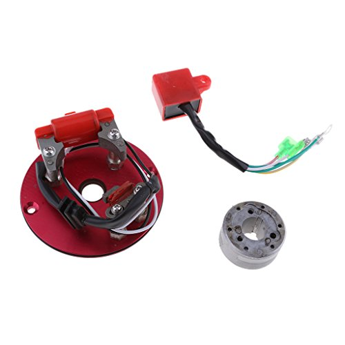 B Baosity Red Racing Magneto Stator Rotor Kit CDI Unit Fit for Lifan ATV  Dirt Bike 110 140 150cc - Motorcycles Accessories