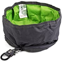 UEETEK Viaje plegable perro Bowl cuenco de agua alimentador portátil para mascotas gato perro alimentos (gris)