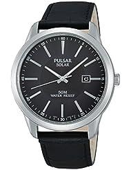 Pulsar Herren-Armbanduhr XL Modern Analog Quarz Leder PX3029X1