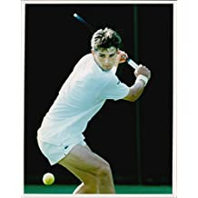Vintage photo of French tennis player Arnaud Boetsch in action
