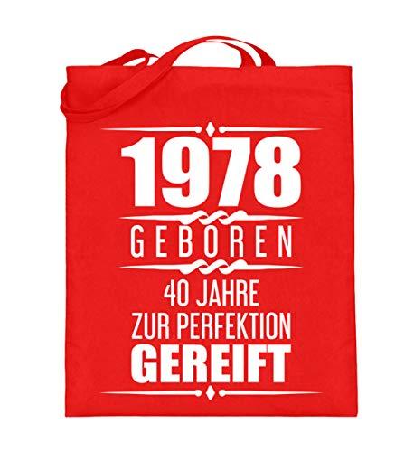 Divertida idea de regalo 40. Cumpleaños 40. Regalo de aniversario de 1978 para 40 cumpleaños. Bolsa de yute (con asas largas).