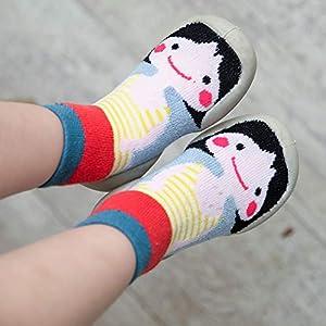 MAYOGO Niños Invierno Calentar Suela de Goma Tejer Calcetines de Piso para Recién Nacido Bebé Antideslizantes Dibujo Animado Bebé Medias Algodón Zapatos de Primeros Pasos 0-3 Años 9