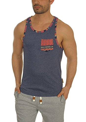 Indicode Clarence Men's Sleeveless Vest Tank Top with Crew Neck Made of 100% Cotton