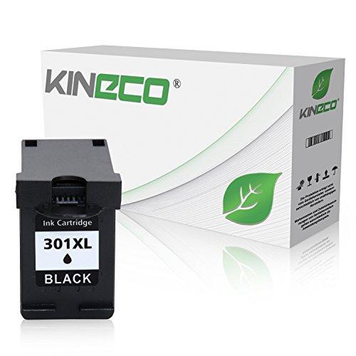 Kineco Tintenpatrone kompatibel zu HP 301XL 301 XL für HP Deskjet 2540, 1510, 1010, Envy 4500 5530 e-All-in-One, OfficeJet 4630, 4632 e-All-in-One - CH563EE - Schwarz 20ml