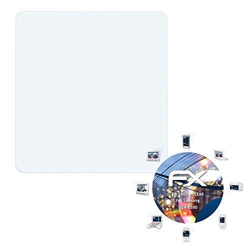Samsung SGH-E590 Folie - 3 x atFoliX FX-Shock-Clear stoßabsorbierende ultraklare Panzerfolie