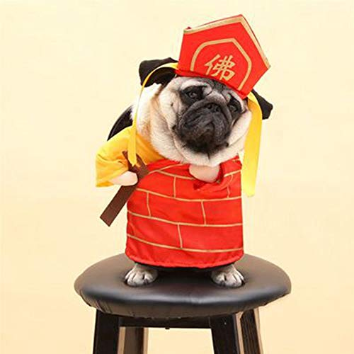 yu pet - Gesetz Meer Kleidung Hund wurde EIN Tang - dynastie Mitarbeiter direkt Anzug und Buddha komische Klamotten,l