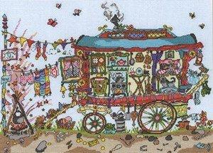 Cut Thru'Gypsy Wagon, Kreuzstich Gypsy Thread