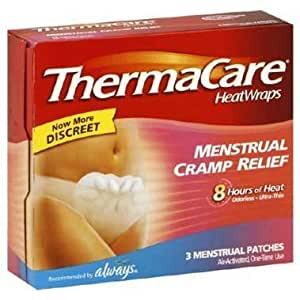 Thermacare Heat Wraps Menstrual Cramp Relief 3 ea by Wyeth (English Manual)