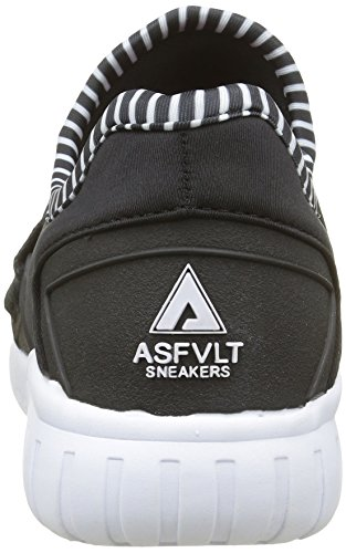 Asfvlt Area Lo, Scarpe da ginnastica Unisex – Adulto Noir (Black White)