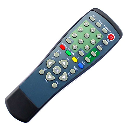 Replacement Remote Control suitable for Telestar Starsat HC/SRS1/SATPLUS  S2/STARSAT 1 with One-to-One PreProgrammed Connection - Easy Start Function  - ...