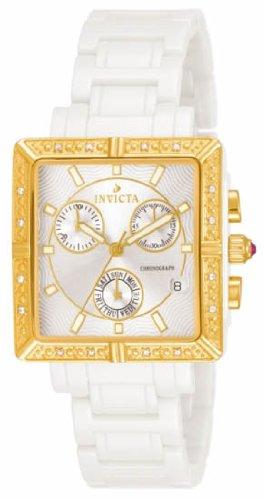 Invicta Women's 10214–Wrist Watch, Ceramic Strap–White