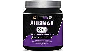 ARGIMAX X2 – 3 Gramos de L-Arginina 100% Pura por Dosis – Potente Precursor del Óxido Nítrico, Favorece la Vasodilatación y la Absorción de Nutrientes. Sin Aditivos – 150 Cápsulas Liberación Rápida.