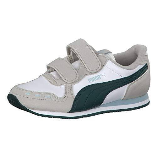 e6513a15ed8b75 Puma Unisex-Kinder Cabana Racer SL V PS Sneaker Weiß White-Gray Violet-