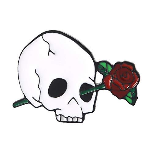 Brosche, Creative Knochen Blume Rose Zubehör Retro Geschenke Braut Auf Bankette Prom Hochzeiten Dekor Elegante Vintage Schmuck Für Männer Mädchen Kleidung Schal Skull