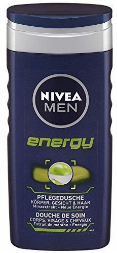 Nivea men - Energy, cuidado de ducha, pack de 4 (4 x 250 ml)