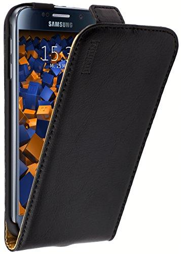 mumbi PREMIUM Leder Flip Case für Samsung Galaxy S6 / S6 Duos Tasche