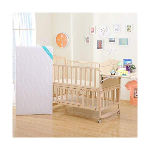 QINYUN Solid Wood Crib Baby Cradle Bed Multi-function Portable Crib,D QINYUN 1. Non-toxic ecological natural solid wood material, without sharp fixing device, can safely touch the skin. 2. This crib protects your child from falling and keeps your baby safe. 3. There is a safe gap between the crib rails so that the baby is not caught between the crib rails. Easy to assemble and save space in your home. 1