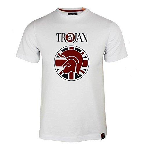 trojan-records-camiseta-de-manga-corta-para-hombre-blanco-bandera-de-union-casco-logo-cuello-redondo