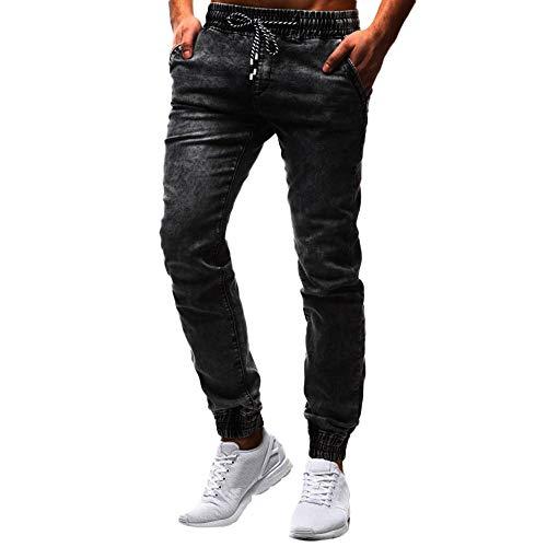 SOMESUN La Mode des Hommes Casual Vintage Elastic Wash Distressed Denim Pantalons Slim Jeans Taille Haute Grande Pas Cher Classiques Velours Jeans Travail Poch