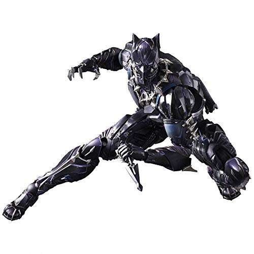MKKSB Marvel Avengers 3: Black Panther Toys, Black Panther Action Figures - 7 Inches / Height 17 cm, Joints Can Be Active (with Support + Color Box)