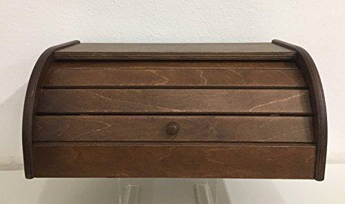 Brotkasten aus Holz von Nussbaum, cm 38x 24x 16 (Nussbaum Körbe)