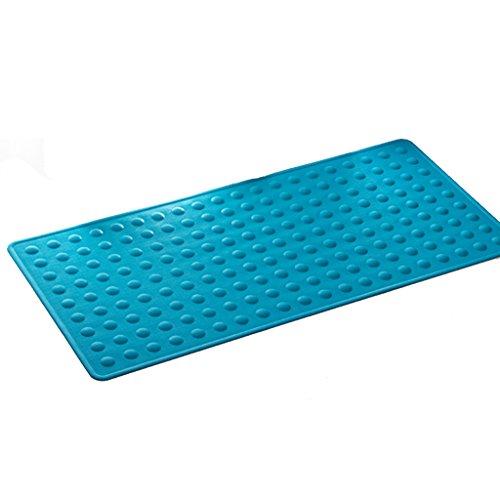 LYJ Tapis de bain Tapis De Bain En Caoutchouc / Tapis De Toilette Non-glacé À L'eau / Douche Tapis De Toilette ( Multicolores Facultatif) Séchage rapide ( Couleur : Bleu , taille : 44*92cm )