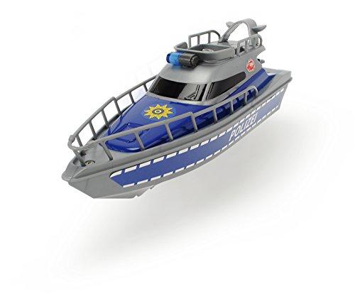 Dickie Toys 203714004 - Police Boat, batteriebetriebenes Polizeiboot, 23 cm