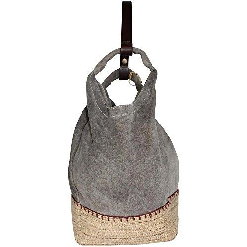 Anokhi, Borsa a spalla donna Stone, Grau