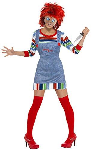 Smiffy's Damen Kinder Play Chucky Puppe Kostüm Halloween Kostüm Gr. M