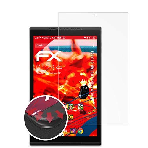 atFolix Schutzfolie passend für Medion LIFETAB S10351 Folie, entspiegelnde & Flexible FX Bildschirmschutzfolie (2X)