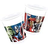 Procos 86665–Vasos Plástico Marvel Avengers Power, 200ml, 8unidades, multicolor.