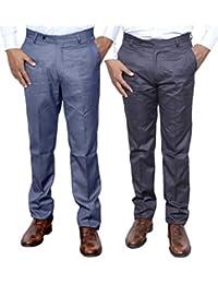 Indistar Combo Offer Mens Formal Trouser (Pack Of 2) - B01JRW6J0G