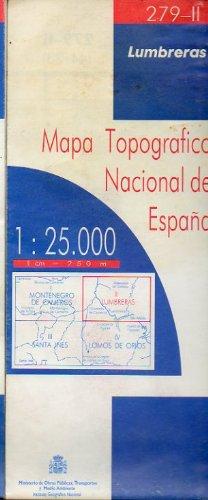 MAPA TOPOGRÁFICO NACIONAL DE ESPAÑA. Escala 1:25.000. 279-I. MONTENEGRO DE CAMEROS.