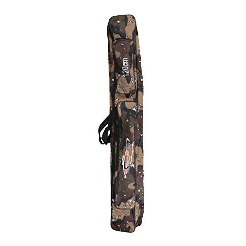 MagiDeal Angelruten-Tasche 120cm Schulter Faltbares Gepäck - Grau Camo
