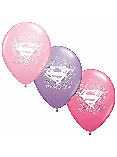 Party Supplies – Pioneer Latex Luftballons 6 CT 30,5 cm DC Comics Supergirl ()