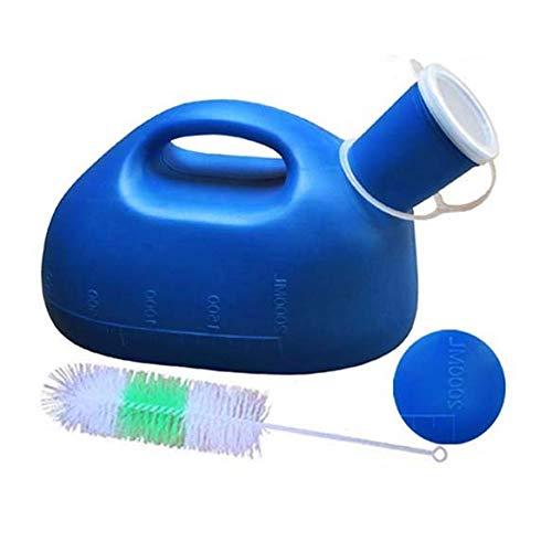 Hairosey 2000ml / 3000ml Large Male Urinal - Tragbare Männer Pee-Flasche mit Deckel - für Inkontinenzpflegepopulationen und für den männlichen,blue2000ml