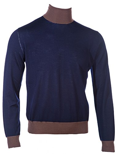 canali-polo-neck-knitwear-in-navy-brown-2xl